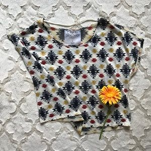 Urban Outfitters Upson Downes Sheer Top - Aztec